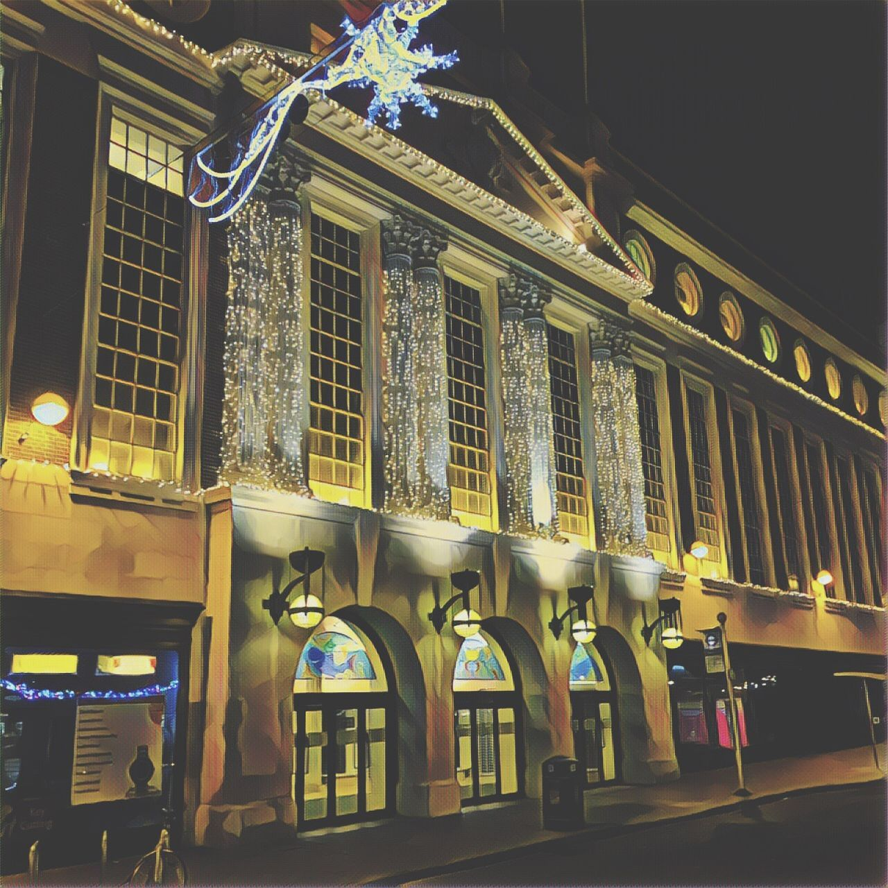 Architecture Built Structure City Kingston Upon Thames Prisma Art Night Lights MerryChristmas