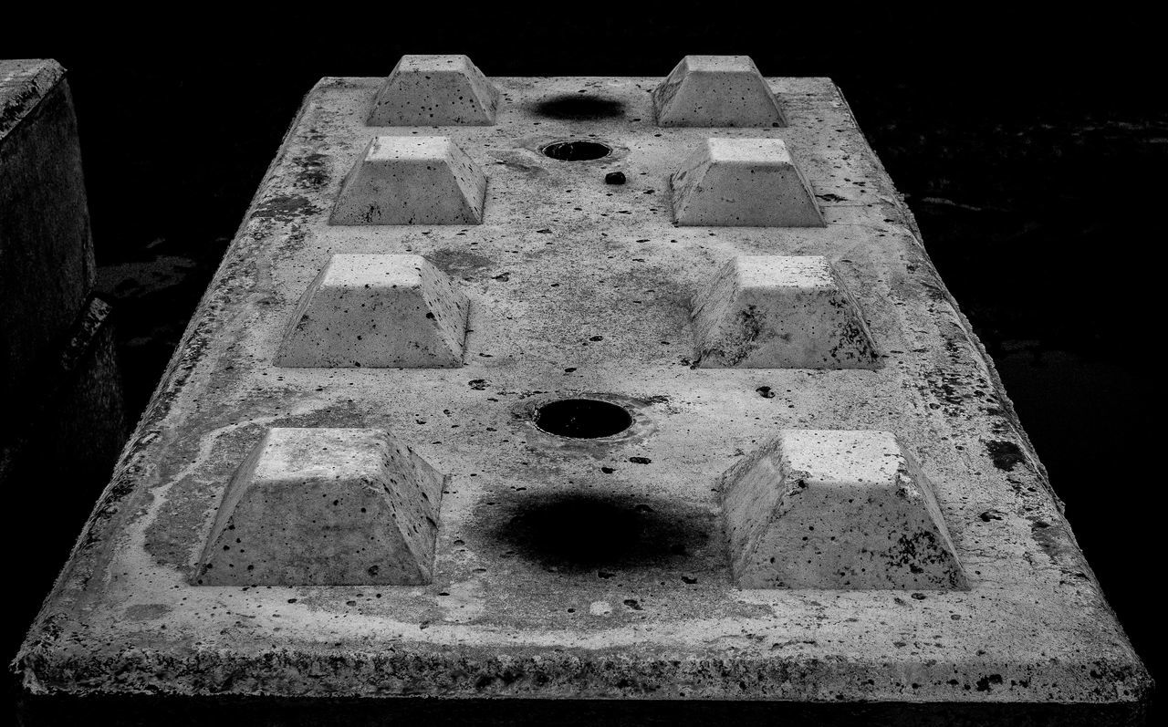 3D 3d Objects Abstract Bevelled Blackandwhite Block Close-up Concrete Construction Day Frusta Frustum Frustums Grey No People Outdoors Tapered Texture Trypa