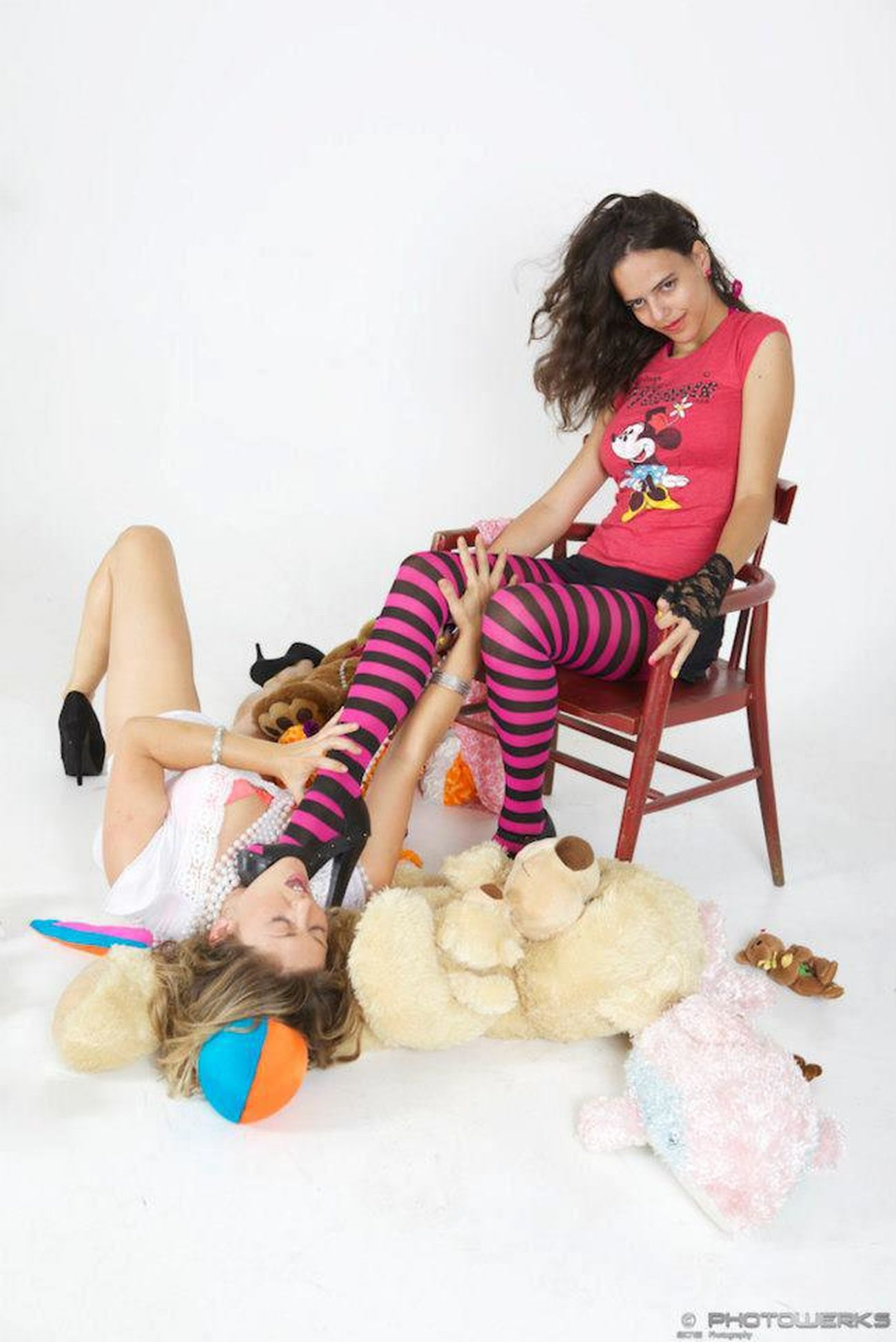 Fight like a girl! Pink Girl Girl Fight Stuffed Animal