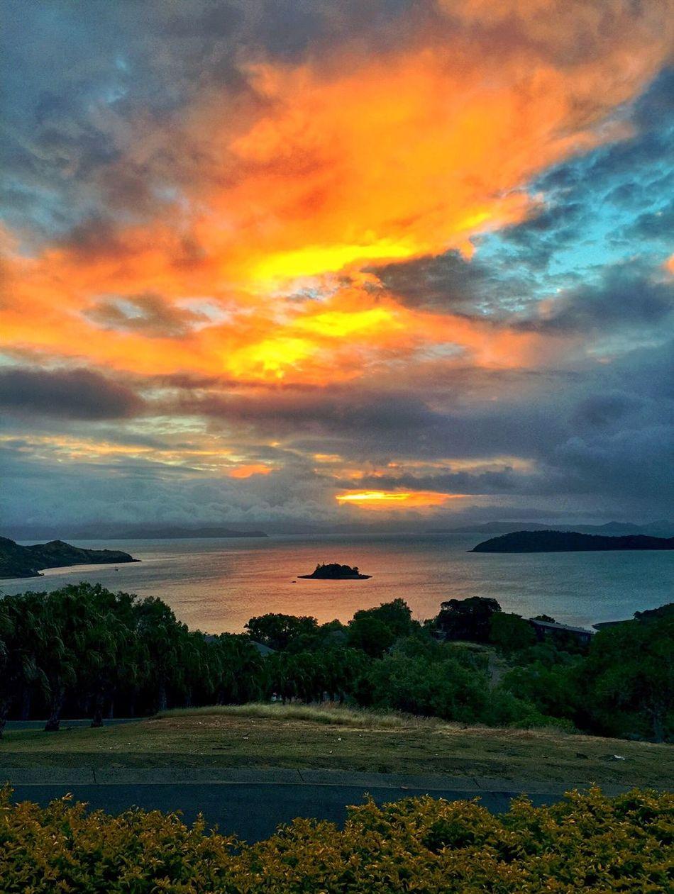 Sunset Hamilton Island Australia Colours Colorful Sky Romantic Ocean Ocean View