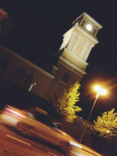 aufdenbuswarten Vscocam Oulu Streetlights Church
