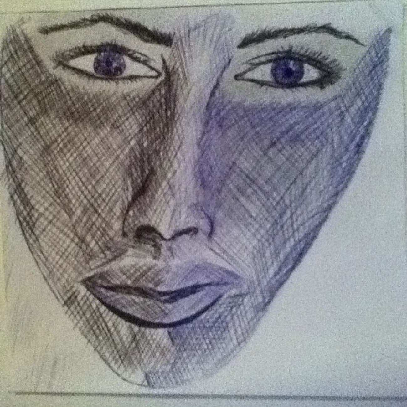 2bleface Eye Nose Blue And Black Brightness Shadow Mouth Ink Pen Eyelash Eyebrows Eyeblue Eyeblack Face Drawing Art Portaretrat Good Follow Fine Like Like4like Instagood instalikeinstafollow