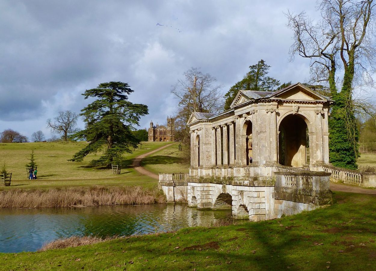 Stowe Gardens National Trust English Countryside Trees Tree Sky Water Built Structure Architecture Building Exterior Cloud - Sky No People Outdoors Day Green Color Nature Stowe Gardens