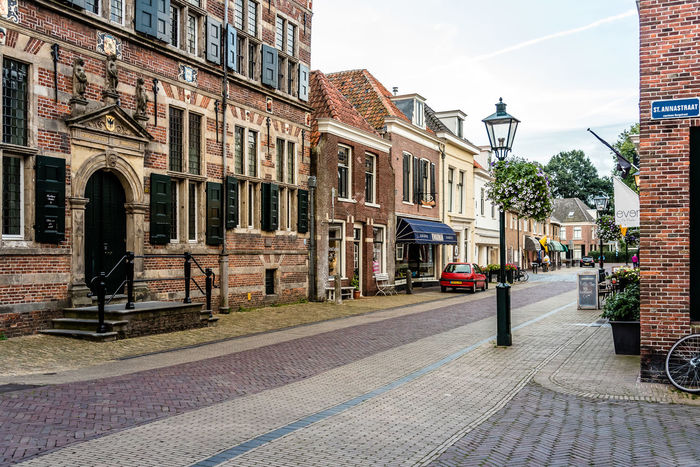 Cityscape of Naarden Architecture Building Exterior Built Structure City City Cityscape Cityscape Cityscapes Cobblestone Day Fortress Garrison History No People Outdoors Sky Street Street Light Tourism Town Travel Destinations Tree Window