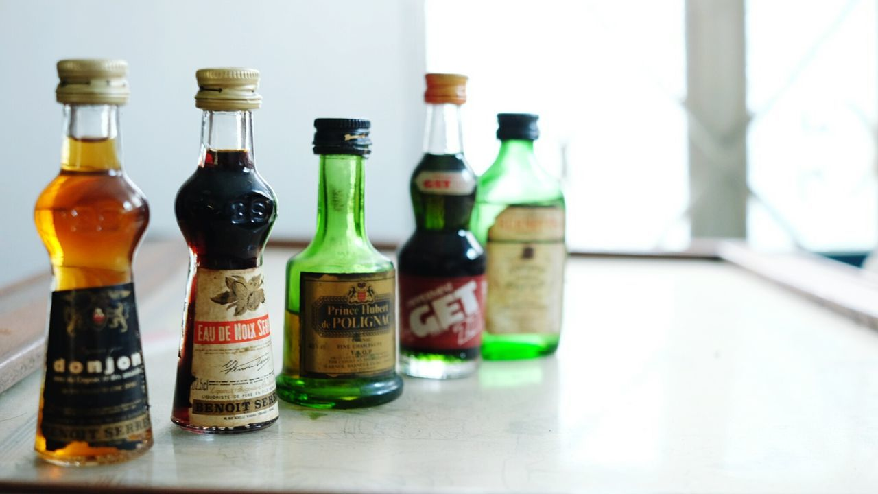 Minis Liquor Vintage Liquor Old Alchohol Donjonstill have...maybe 40 more of these mini liquors! 😄😄😄