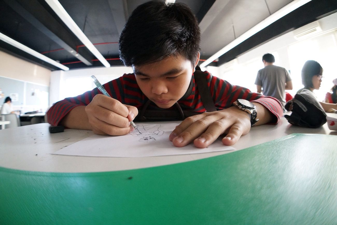VCD Buddies Drawing Class Fisheye