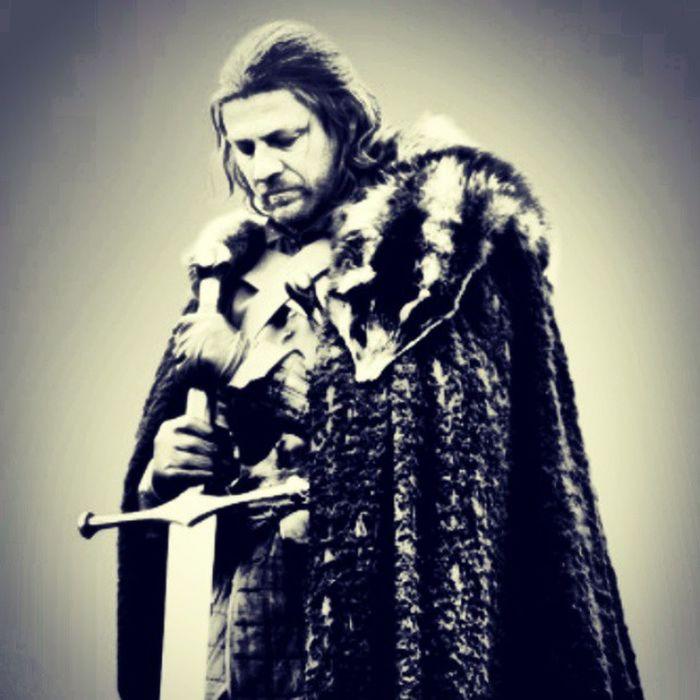 Eddard Stark. Eddardstark Stark Eddard Nedstark Winterfell Winteriscoming Asongoficeandfire Wolf Quietwolf Honor Gameofthrones Ice Valyriansteel Seanbean Iphonesia Photooftheday Instafollow Instafollowback Instagood