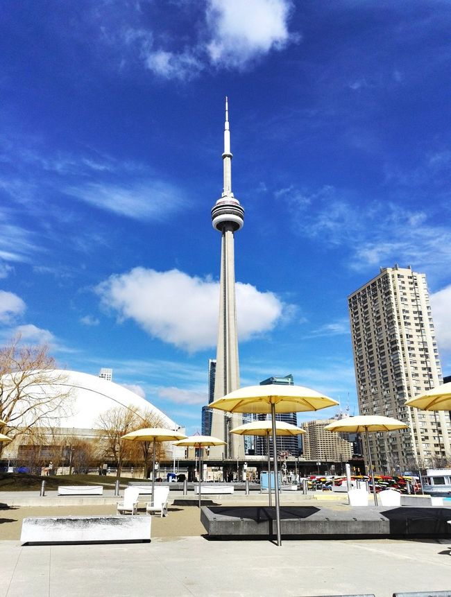 Hanging Out Taking Photos Check This Out Hello World Enjoying Life Cityscapes Buildings CN Tower View Spring Tourist Lakeside Lakeshore