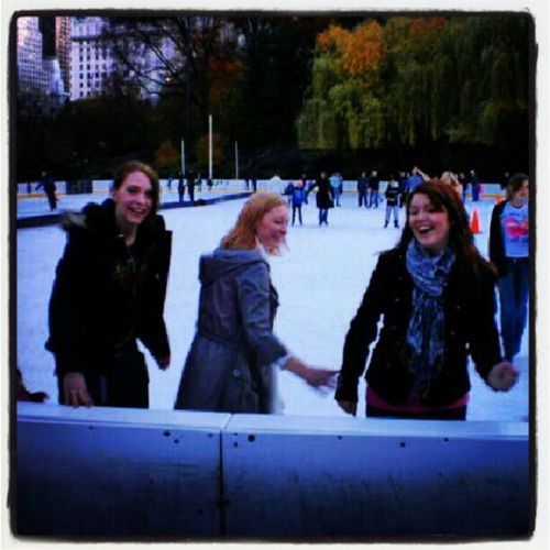 NYC Central_park New_york Tagstagram ice_skating old_photo
