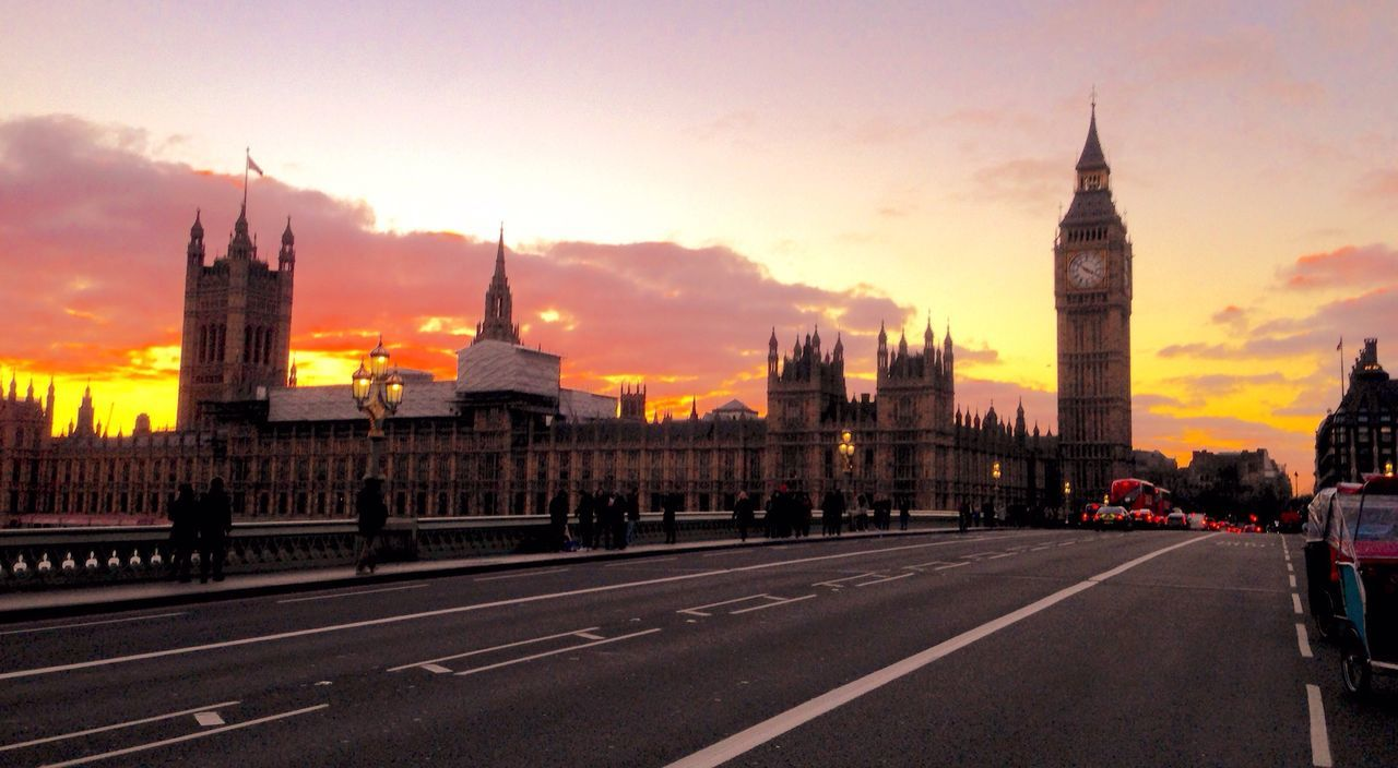 Architecture Building Exterior Sunset Built Structure City Sky Travel Destinations Big Ben Houses Of Parliament Sunset_collection Westminster City Life London Bridge Government Tower Clock Tower Outdoors No People Cityscape Cultures Day