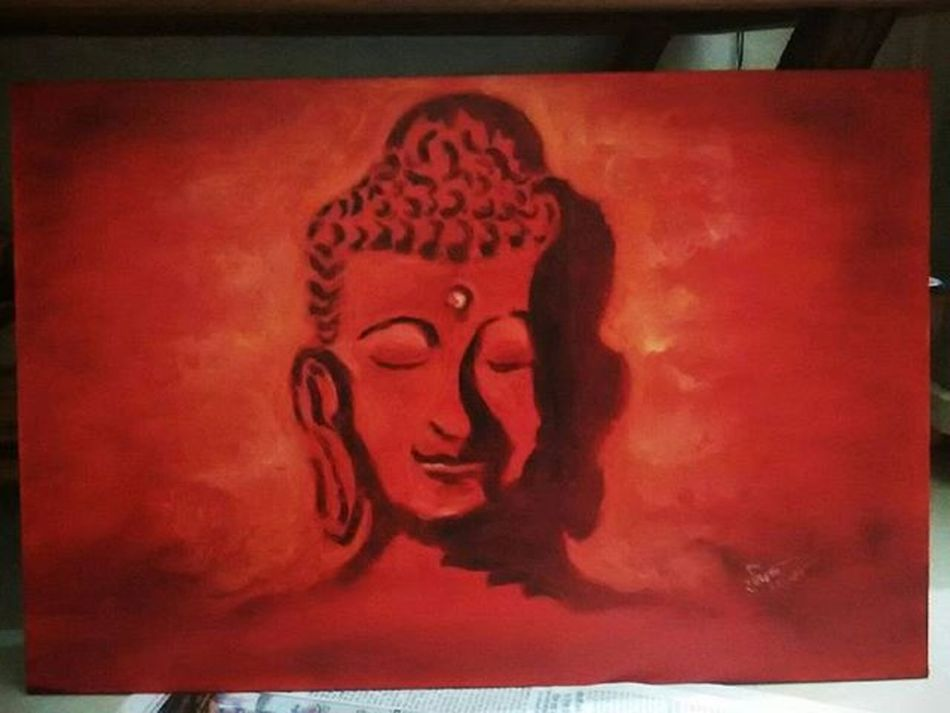 Buddha - a symbol of peace , courage , humbleness, stability of mind soul and body! Oilpainting OilWork ultimate statisfaction😊
