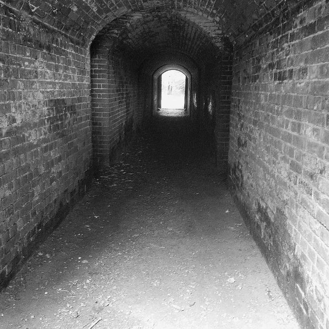 Inside the tunnel B&W Ancient Monument Arch Architecture B&w Brick Wall Building Built Structure Corridor Dark Day Defensive Structure Defensive Wall Deterioration Diminishing Perspective Empty Hilsea Lines Hilsea Lines Ramparts Narrow No People Old Ramparts The Way Forward Tunnel Wall Wall - Building Feature
