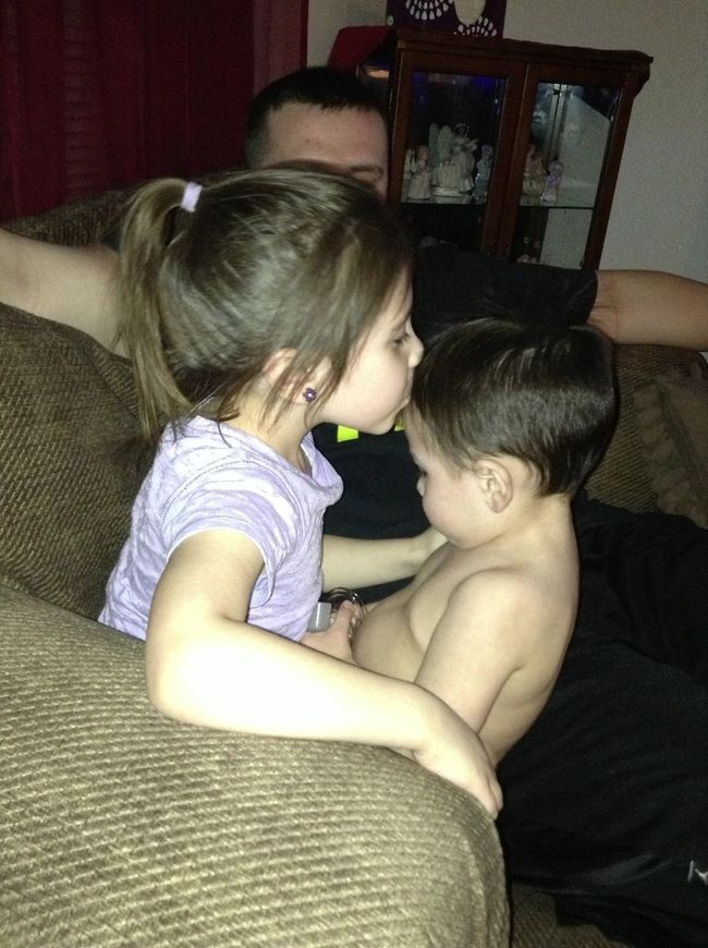 She Missed Her Baby Brother(: