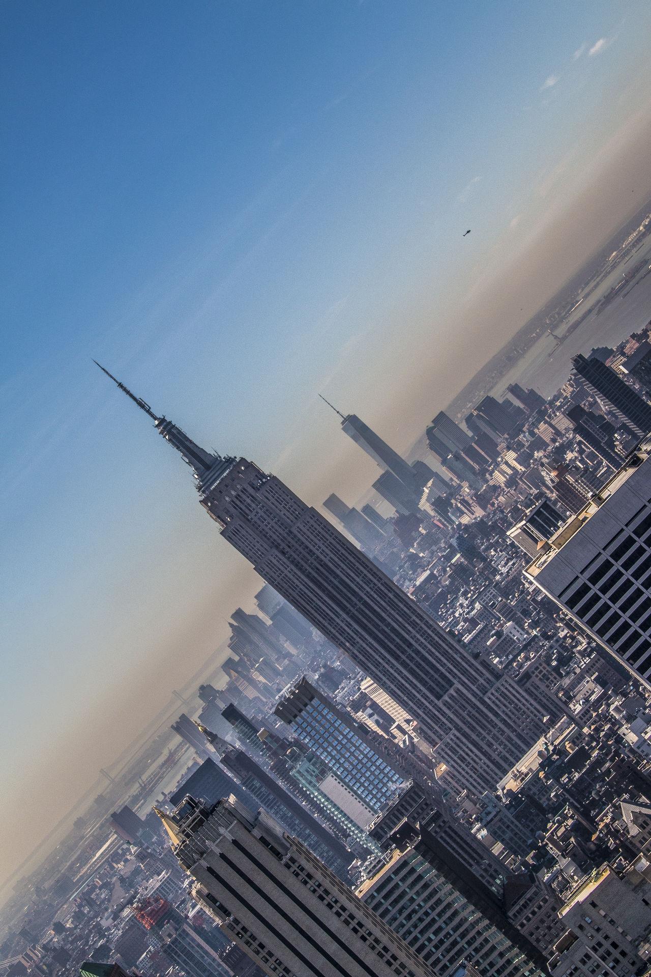 Manhattan New York Top Of The Rock Empirestate South Manhattan Empire State Building