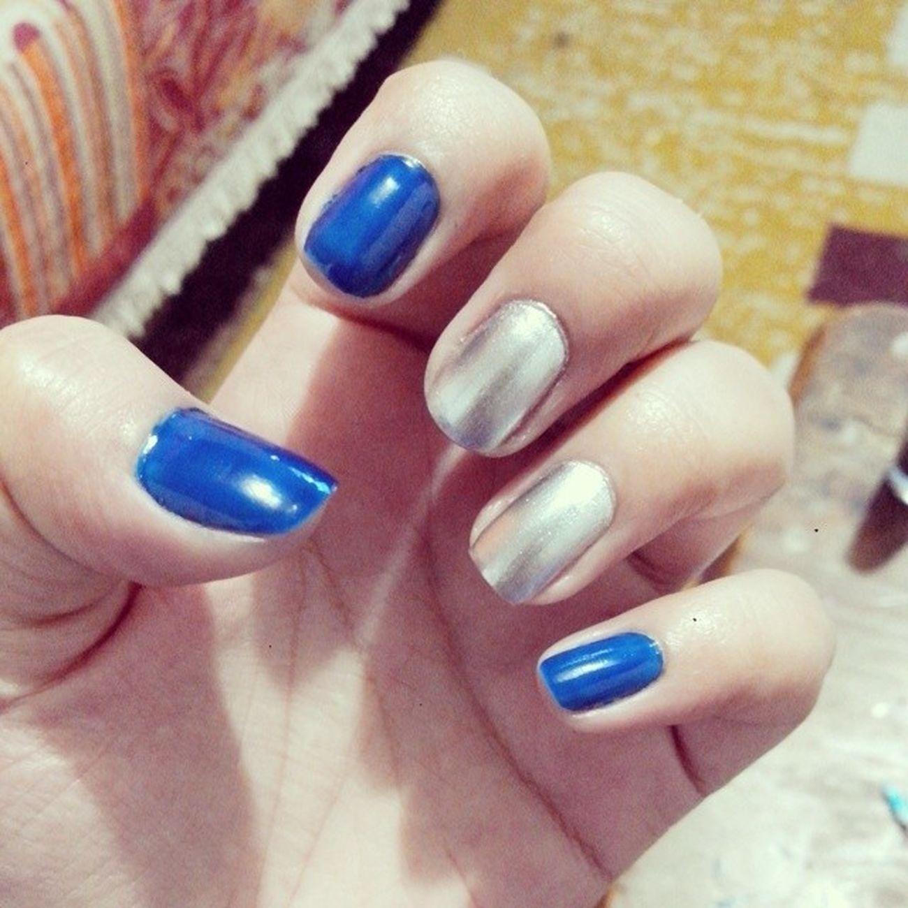 Realce Azul Prata Unhadasemana
