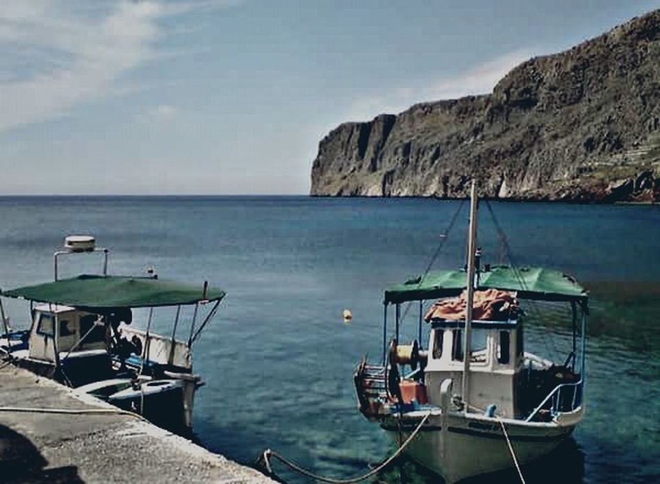Endlesssummer Endless Blue Sea And Sky Lakonias Village Gerolimenas Peloponesse Fishing Village Fishing Boats