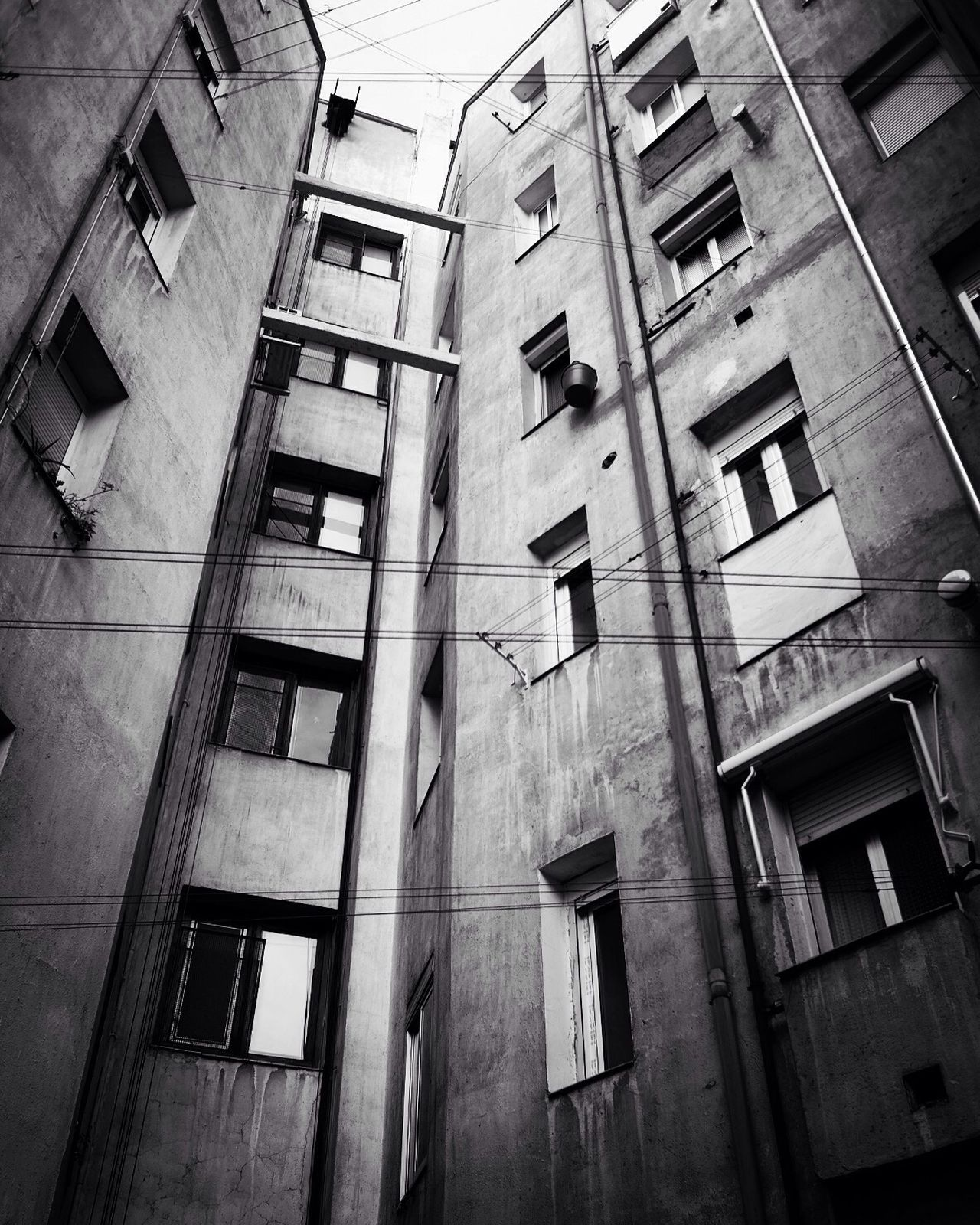 Architecture Window Built Structure Low Angle View No People City Bw