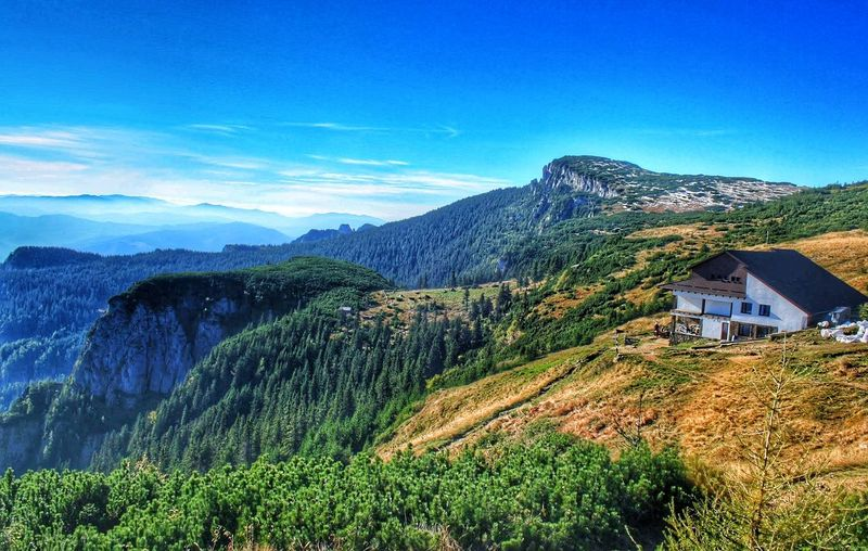 Mountain Built Structure Architecture Building Exterior Blue Mountain Range Beauty In Nature Non-urban Scene Nature Sky Physical Geography Majestic Tourism Panoramic Photography Top Of The World Fresh And Clean Fresh Air...