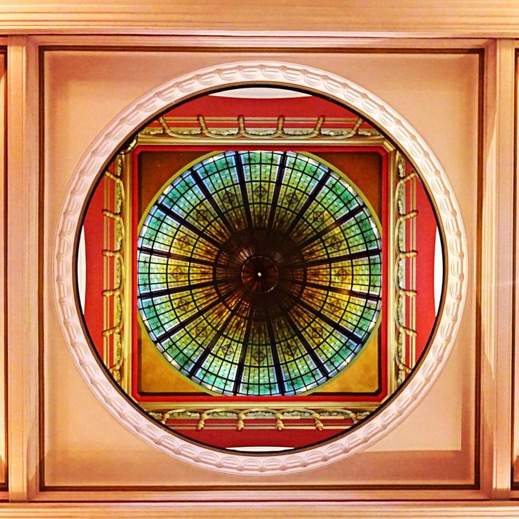 Colors And Patterns Architecture Ceiling Glass - Material Architectural Feature Directly Below Dome Queen Victoria Building Sydney, Australia