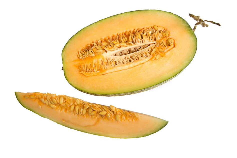 Cantalope Close-up Food Fruit Healthy Eating Malon No People Seed Studio Shot White Background