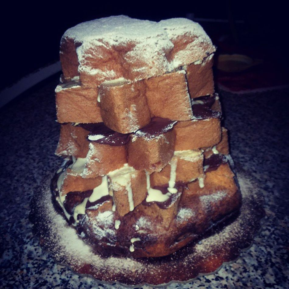 Pandorofarcito Mascarpone  Nutella Zuccheroavelo Dolcidolcidolci Gnamgnam