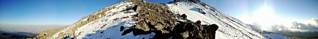 At the top Snow Panoramic Mountain View Nature