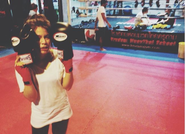 Let's fight!! Taking Photos Enjoying Life Boxing Kickboxing