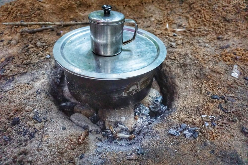 The Great Outdoors - 2017 EyeEm Awards No People Food And Drink Outdoors Day Food Water Close-up Tea Coffee Time Outdoor Camping Love Nature Freshness Slowcooker No Fire Just Red Amber