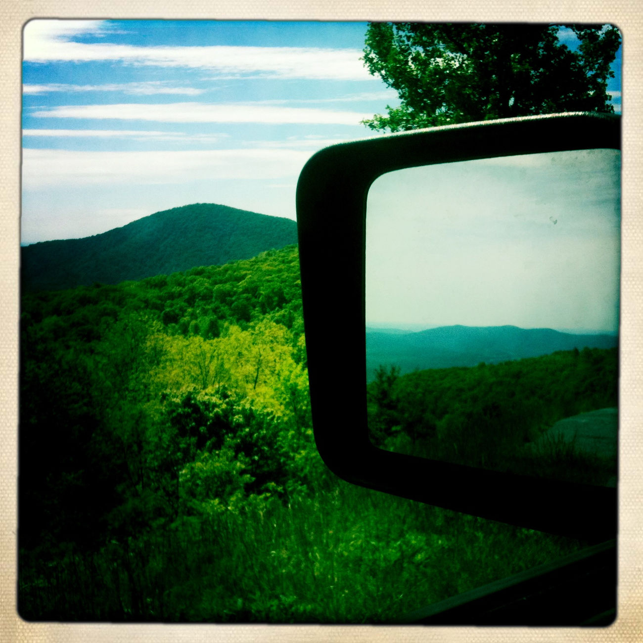 Sometimes when you look back you find what you really wanted all along. #reflection #mirror #mountain #nature #motion