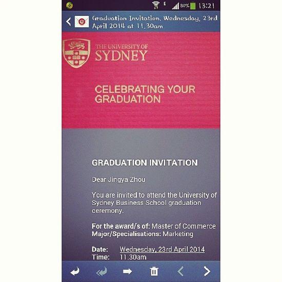 Usyd  Universityofsydney Graduation Graduationceremony invitation 졸업 시드니 시드니대학교 instaplace instamood 悉尼大学 毕业典礼