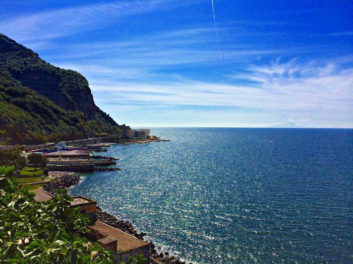Sorrento Sorrentocoast Italy Blue Sky Ocean Ocean View Landscape