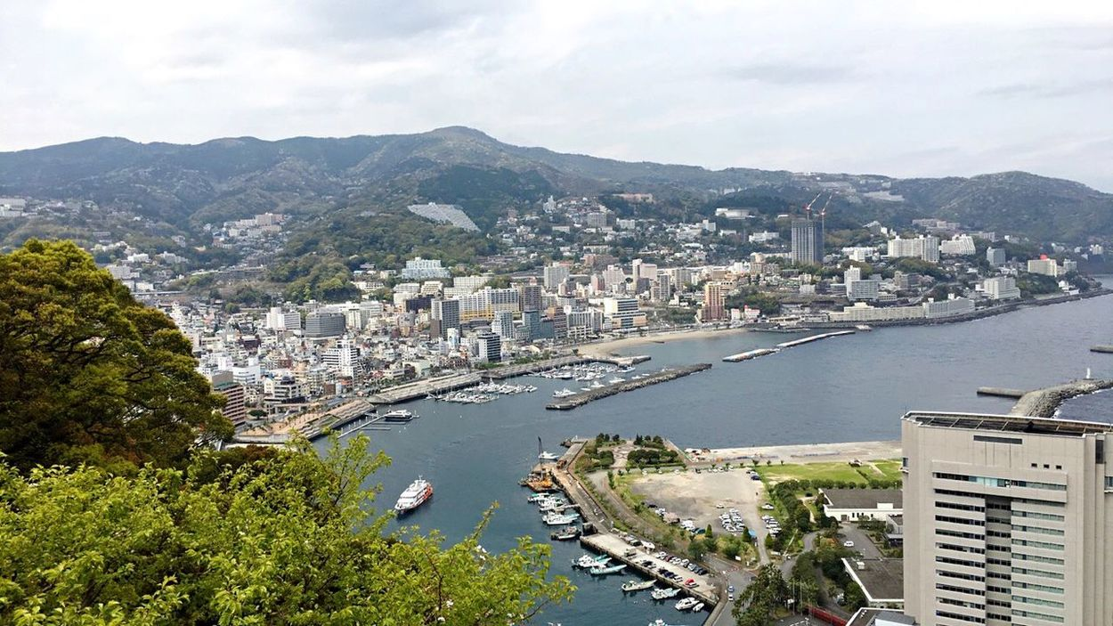 Atami In Japan Sky Cityscape Travel Destinations Transportation Mountain Nature No People