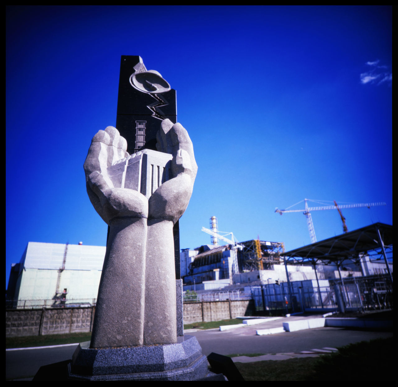 Reactor No 4 2016 Analogue Photography Catastrophy Chernobyl Chernobyl Exclusion Zone Explosion Failure  Gau Lomography Mankind Medium Format Monument Nature Nuclear Catastrophy Nuclear Power Outdoors Polution Radioactive Reactor No.4 Sarcophagus Slidefilm Soviet Union Technology Ukraine