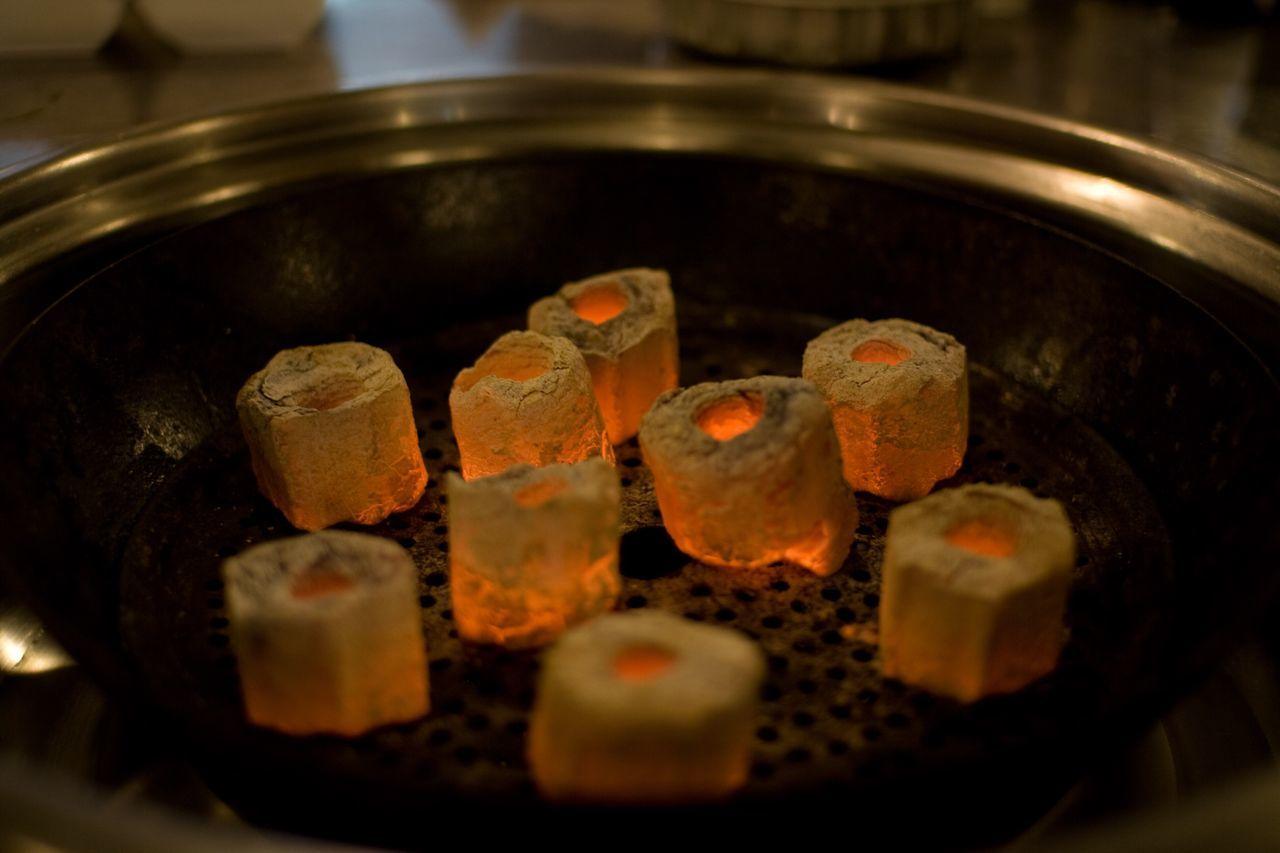 Coal Close-up Heat - Temperature 화로
