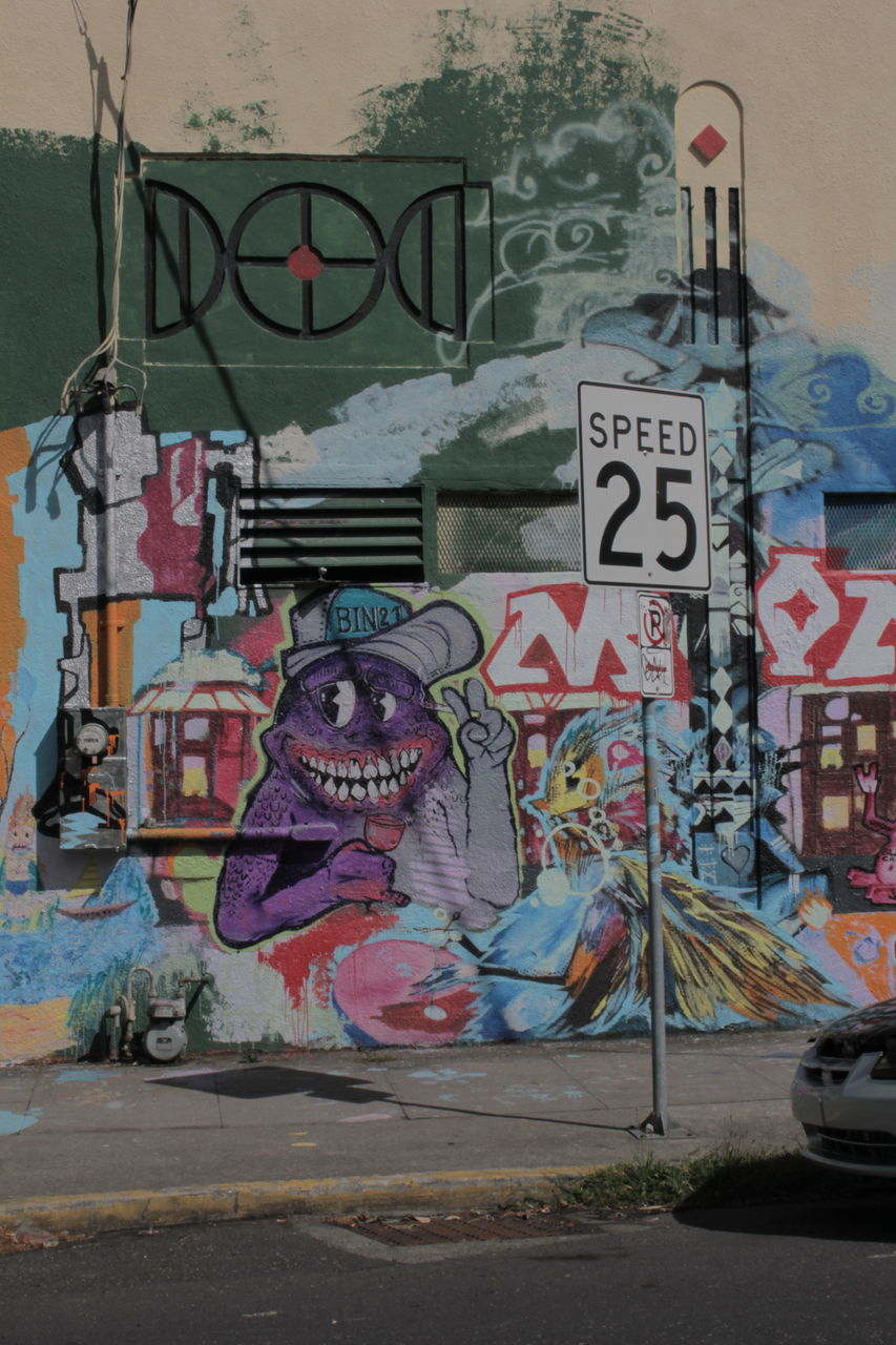 graffiti, street, text, built structure, architecture, communication, no people, outdoors, multi colored, day, city