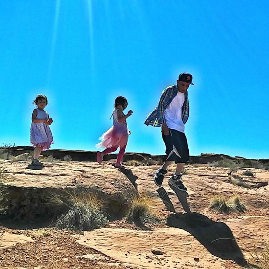 Natural Light Portrait Road trip from San Francisco Ca to Miami Fl. This is the Arizona desert. My girls love adventure and are the first to ask for exploration. Fatherhood Moments