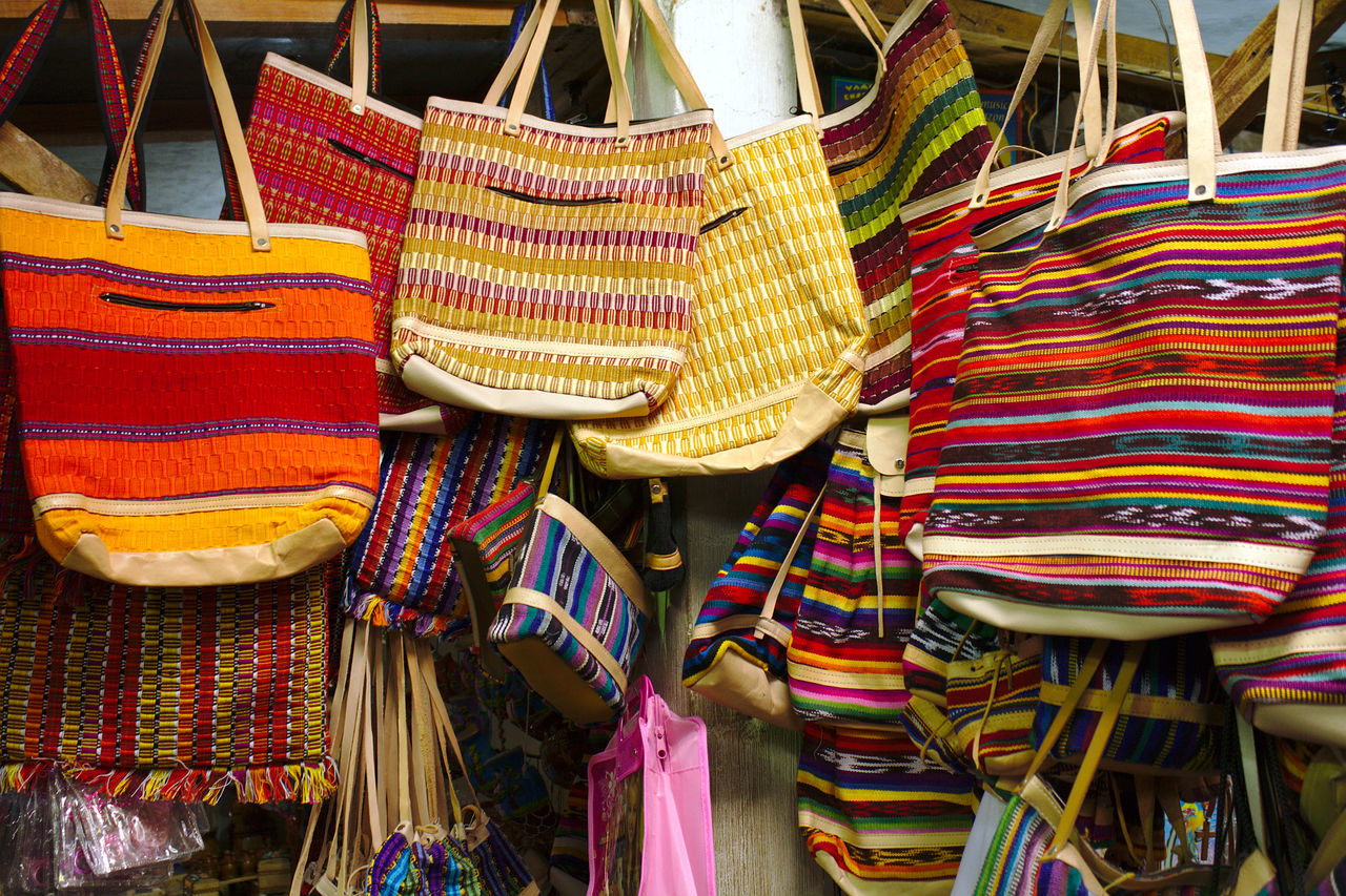 Bazaar Bright Colors Crafts Craftsmanship  Culture Decoration Feb2010 Fleamarket For Sale Handbags Handcrafted Handicraft Handmade Hat Home Decor Market Marketplace Objects Retail  Still Life Store Street Market Travel Urban Exploration Western Guatemala