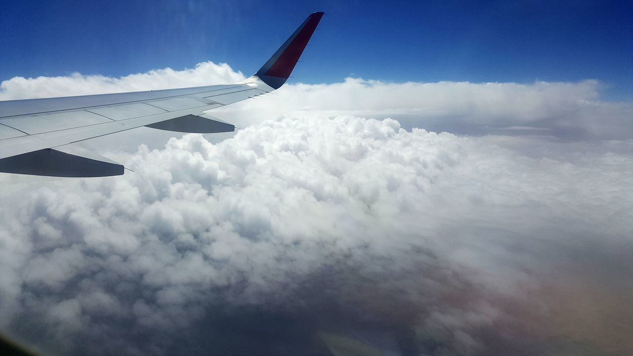 Airplane Cloud - Sky Sky Airplane Wing Outdoors Relaxing Beauty In Nature Karachi Nature Traveling Home For The Holidays