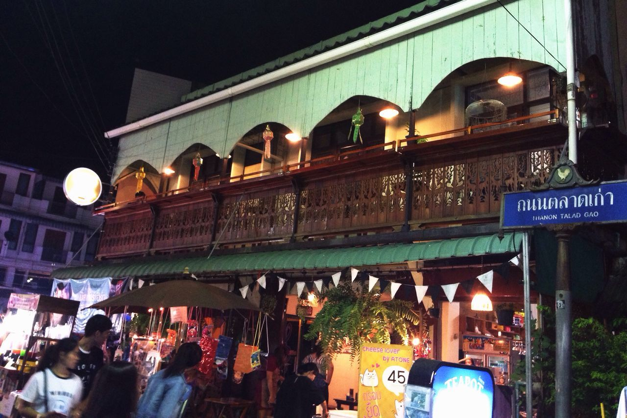 Night walk in Lampang Built Structure Building Exterior Architecture Illuminated Large Group Of People City Real People Women Men Lifestyles Store Night Text Outdoors Crowd People Lampang | Thailand Tadaa Community