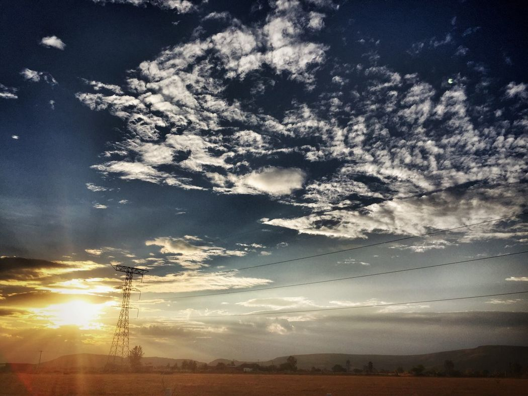 Sky Cloud - Sky Low Angle View Sunlight Sunbeam Electricity  No People Fuel And Power Generation Tranquility Electricity Pylon Nature Scenics Beauty In Nature Tranquil Scene Sun Outdoors Day Aguascalientes Mexico Beauty In Nature Light Aguascalientes' Sunset Aguascaliente's Sunset