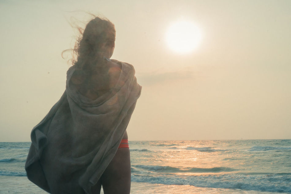 Beach Beautiful Beauty In Nature Cozy Sand Sea Sleep Sun Sunlight Sunset Woman