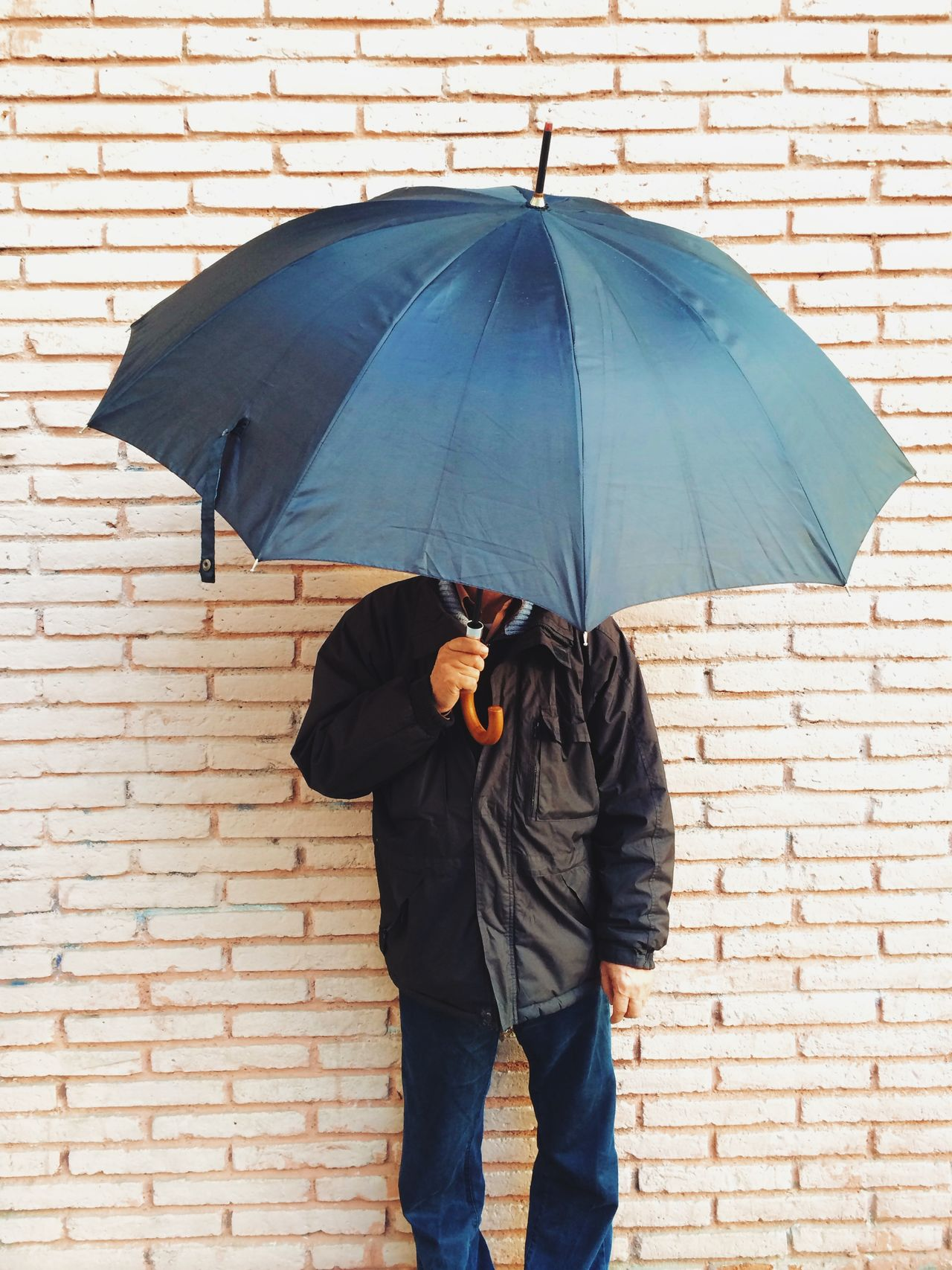 Beautiful stock photos of umbrella, Brick Wall, Day, Front View, Holding