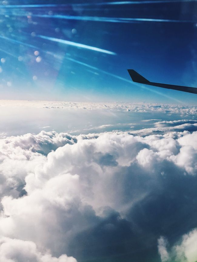 Airplane Sky Flying Transportation Cloud - Sky Airplane Wing Cloud Nature Journey Aerial View Aeroplane Cloudscape Travel Mode Of Transport No People Aircraft Wing Day Beauty In Nature Outdoors Scenics