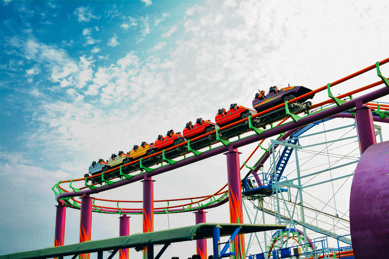 Beautiful stock photos of roller coaster, Adventure, Amusement Park, Amusement Park Ride, Arts Culture And Entertainment