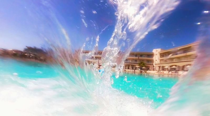 Water Motion Splashing Long Exposure Fountain Blurred Motion Architecture