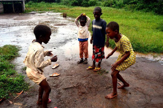 Africa African Child Childhood Game Girls Togo