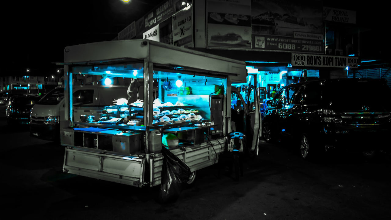 Blue Night Store Industry Illuminated Outdoors Neon Business Finance And Industry Industrial Building  Occupation Magazine Shoot Working Business EyeEmNewHere OppoR9s Magazine Cover Design Lifestyles People City Cultures The Secret Spaces The Photojournalist - 2017 EyeEm Awards