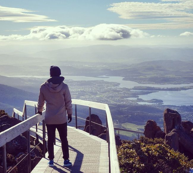 On top of the 🌏 Check This Out Enjoying Life Mountains Mountains And Sky Clouds Adventure Lookout Mountain Winter Tasmania Australia