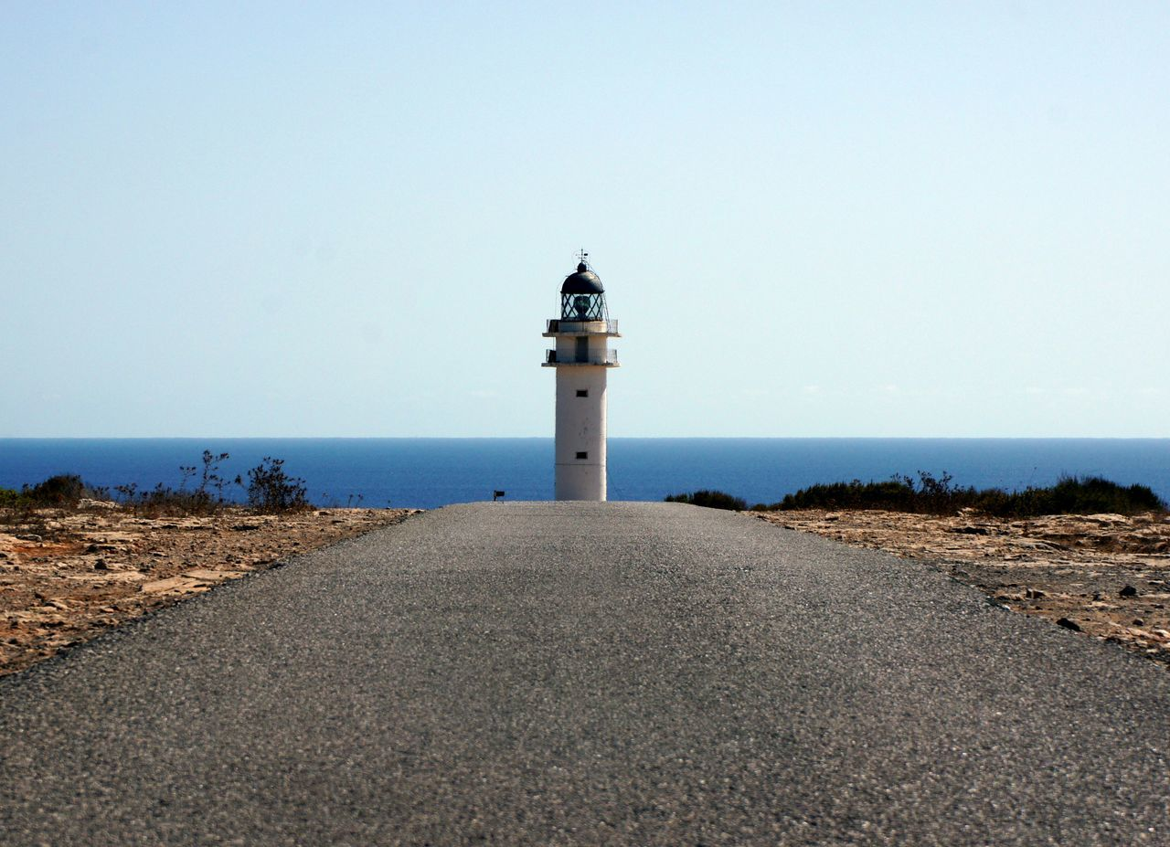 Formentera Lighthouse On The Road Road Horizon Cap De Barbaria Horizonte