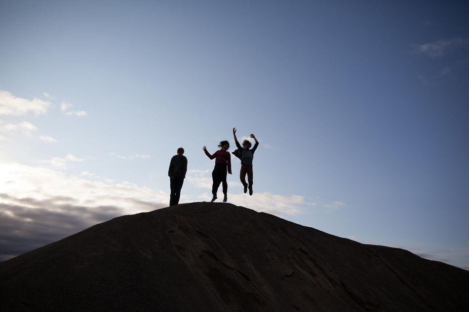 Beautiful stock photos of jump, Blue, Cloud, Copy Space, Dusk